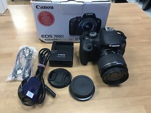 Canon EOS 700D 18.0MP Digital SLR Camera & 18-55mm Lens Kit - Black