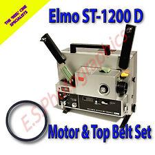 Elmo st-1200d SUPER 8mm CINE PROIETTORE le cinghie di trasmissione set di 2