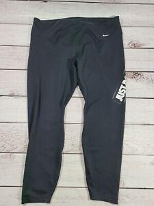 Nike Plus Size Sportwear Club LOGO legging capri crop pants 2x 2xl xxl Black R1