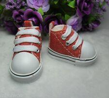 Yo-SD Bjd Dollfie Neo-Go Boy Obitsu Male Taeyang Doll Shoes Denim Sneaker RED