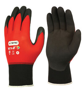 10 Pairs Skytec NFT Nitrile Lightweight Gloves Wet AntiMicrobial Grip Work(BETA)