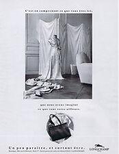 PUBLICITE ADVERTISING 094 1989 LONGCHAMPS maroquinerie sacs