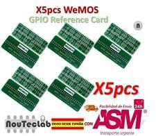 5pcs WEMOS GPIO Reference Card GPIO Board for Raspberry Pi Model B+/Pi 2/Pi 3