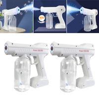 2 Pack Rechargeable Nano Sanitizer Sprayer Disinfectant Fogger Machine White