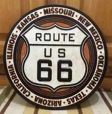 ROUTE 66 US METAL ROAD HIGHWAY USA BAR WALL DECOR HISTORIC CALI KANSAS TEXAS