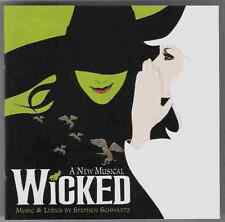 WICKED a new musical Original Broadway Cast CD 2003 kristin chenoweth oz seller