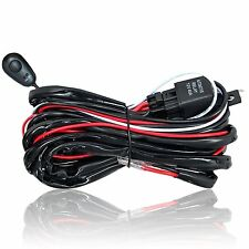 LED Work Light Bar ON OFF Switch Wiring Harness Realy Driving Pod 2 Lead Connect