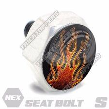 Polished Hex  - Billet Aluminum Seat To Fender Bolt for Harley - HOT ROD FLAMES