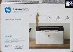 HP 107a A4 Mono USB Laser Printer Windows PC (2 Page, 100% Toner) TESTED VAT Inc
