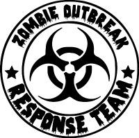 Zombie Outbreak Response Team Biohazard Vinyl Sticker Decal Car Wall Laptop Cup