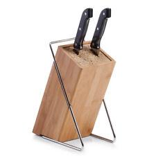 Zeller Messerblock  Bamboo Metall mit Borsteneinsatz
