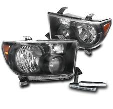 2007-2013 TOYOTA TUNDRA/2008+ SEQUOIA BLACK/AMBER HEAD LIGHT +DRL LED SIGNAL KIT