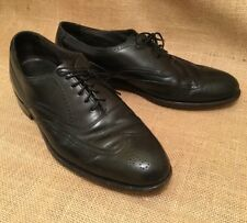 BOSTONIAN MEN'S BLACK DRESS SHOES WING TIP LEATHER LACE UP OXFORDS SIZE 9 M