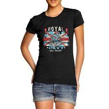 Women's Union Jack Royal Navy Distress Print T-Shirt