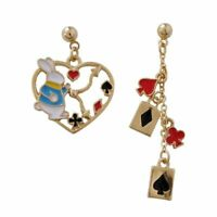Drop Earrings Bunny Rabbit Love Heart Playing Cards Women Poker Spades Jewelry