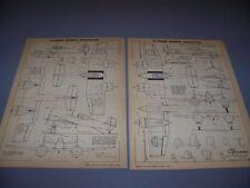 VINTAGE..GRUMMAN XF5F-1 SKYROCKET..7-VIEWS/CROSS SECTIONS..RARE! (396E)
