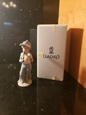 "Boxed Lladro 7610 ""Can I Play"" Baseball Figurine 1990 Collector's Society"