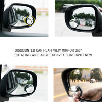 1Pcs Car SUV Side Rear View Blind Spot Mirror Wide Angle Convex Mirror Universal