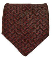 Henry Grethel Platinum Men's Geometric Italian Silk Designer Suit Necktie Tie