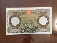BANCONOTA LIRE 100 ROMA GUERRIERA FASCIO ROMA 25 5 1940 BB+ numismatica SABAUDA