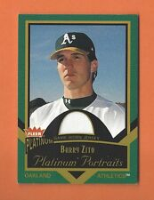 2003 FLEER PLATINUM PORTRAITS BARRY ZITO GAME-USED JERSEY #PP/BZ OAKLAND A's