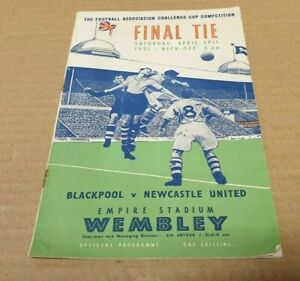 FA Cup Final Programme Blackpool v Newcastle United April 28th 1951