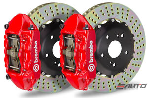Brembo Front GT Brake BBK 4Piston Red 328x28 Drill Disc for Miata MX-5 MX5 16-17
