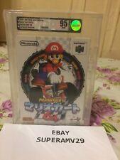 Nintendo 64 Mario Kart 64 Japan RELEASE 1996 VGA GRADED 95 ARCHIVAL CASE