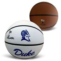 Zion Williamson Autographed Duke Blue Devils Full Size Logo Basketball Fanatics