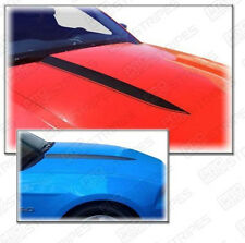 Ford Mustang 2010-2012 Hood Cowl Side Spear Stripes Decals Pair (Choose Color)