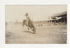 "PENDLETON ROUND-UP ORE, ""Johnny Maggert on Lightning Creek"" RPPC   r1056"