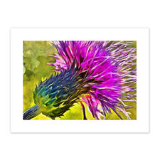 Scottish Thistle Flower Vibrant Canvas Wall Art Print