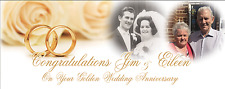 Large Customised Golden Wedding Anniversary Banner Decoration 50th