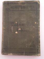 WHITNEY'S GERMAN TEXTS Antique Old School Grammar Wilhelm Tell Schiller 1877