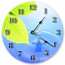 "10.5"" PERFECT WATER DROP CLOCK - Large 10.5"" Wall Clock - Home Décor Clock 3026"