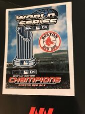 "Boston Red Sox 2004 World Series Champions Woven Blanket size 48""x60"" New"