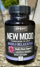 Onnit NEW MOOD With 5-Htp, 30 Capsules  *New* Safety Sealed Guaranteed!