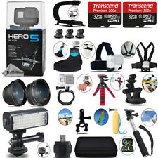 GoPro Hero 5 Black + Wide angle & Telephoto Lens + 64GB - Loaded Saving Kit