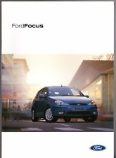 Ford Focus 2002-2003 UK Market Sales Brochure ST170 Ghia Zetec LX CL