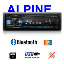 Alpine Autorradio Bluetooth USB / MP3 1-DIN Autoradio Radio Aux A2DP Coche