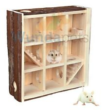 TRIXIE DWARF HAMSTER MOUSE CAGE LARGE PLAYING TOWER HOUSE SEE THROUGH NEW 61709