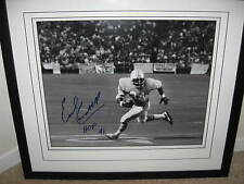 EARL CAMPBELL HOUSTON OILERS signed and framed B&W 16x20 photo