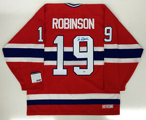 LARRY ROBINSON SIGNED MONTREAL CANADIENS CCM JERSEY PSA/DNA COA