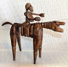 30% OFF DAY OF DEAD SKELETON HORSE AND RIDER RARE MAYAN FOLK ART