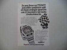 advertising Pubblicità 1981 OROLOGIO TISSOT F1