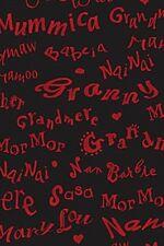 Fat Quarter Grandma's House Script (Black) Quilting Fabric  50cm x 55cm