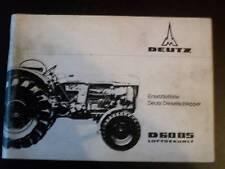 Piezas de recambio lista Deutz remolcador tractor d13006
