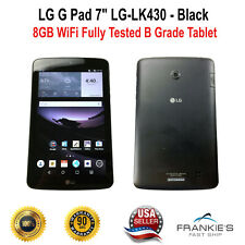 "LG G Pad 7"" LG-LK430 Sprint 8 GB Black Android Fully Tested B Grade Tablet"