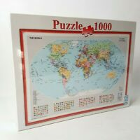 F.X. Schmid Jigsaw Puzzle 100 Piece World Map - New Sealed