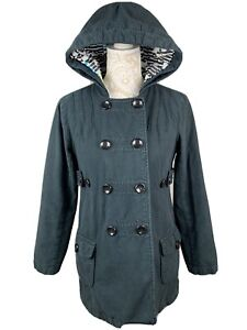 Volcom Valley Of Dolls Peacoat Logo Lining Hooded Size 100% Cotton outer Sz S/P